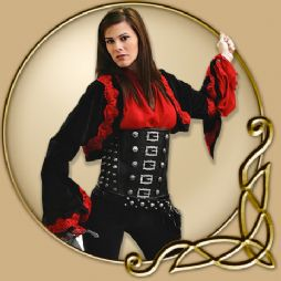 Costume - Red Black Womens Bolero